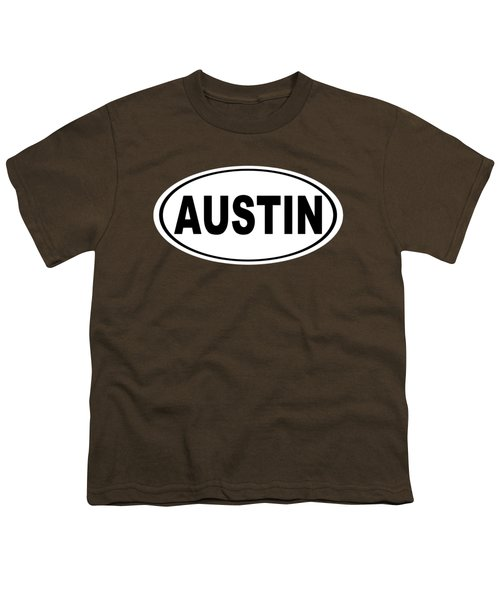 Oval Austin Texas Home Pride Youth T-Shirt by Keith Webber Jr