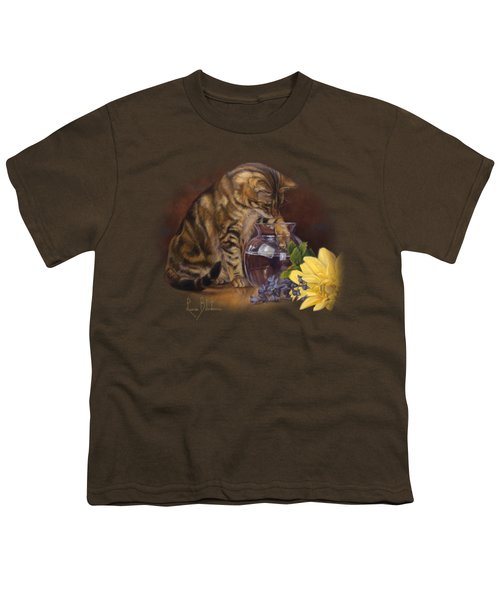 Paw In The Vase Youth T-Shirt by Lucie Bilodeau