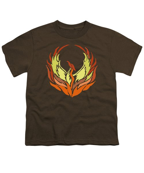 Phoenix Bird Youth T-Shirt by Priscilla Wolfe