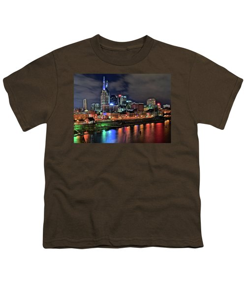 Rainbow On The River Youth T-Shirt by Frozen in Time Fine Art Photography