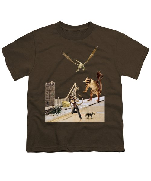 Running From My Problems Youth T-Shirt by Methune Hively