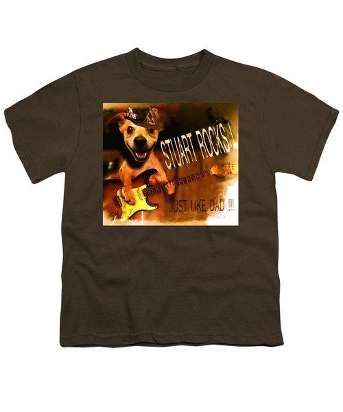 Stuart Rocks Youth T-Shirt by Luisa Gatti