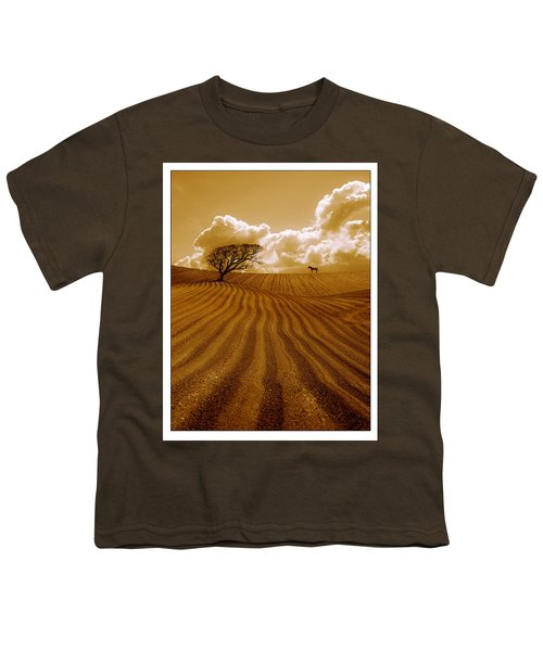 The Ploughed Field Youth T-Shirt by Mal Bray