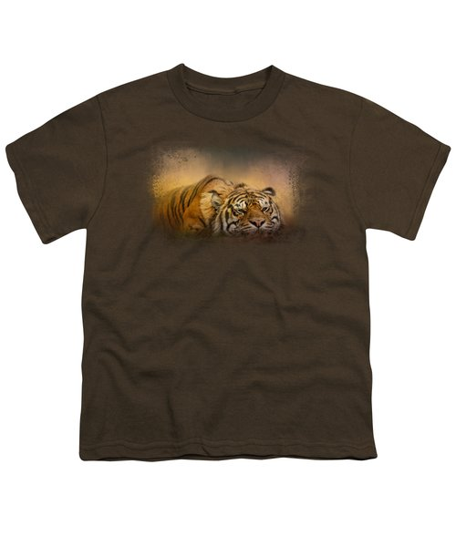 The Tiger Awakens Youth T-Shirt by Jai Johnson