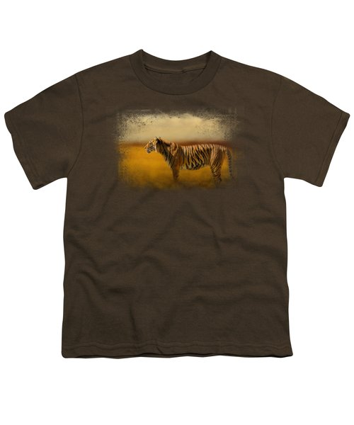 Tiger In The Golden Field Youth T-Shirt by Jai Johnson