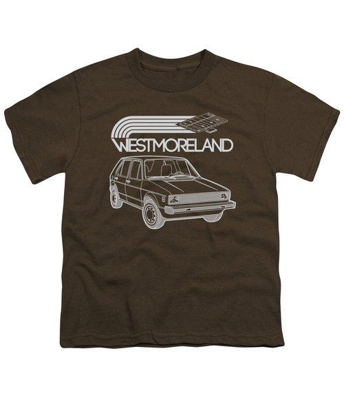 Vw Rabbit - Westmoreland Theme - Gray Youth T-Shirt by Ed Jackson