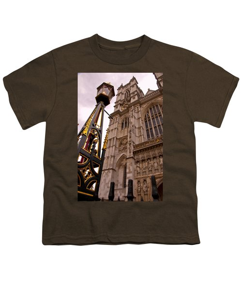 Westminster Abbey London England Youth T-Shirt by Jon Berghoff