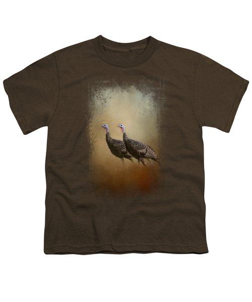 Wild Turkey At Shiloh Youth T-Shirt by Jai Johnson