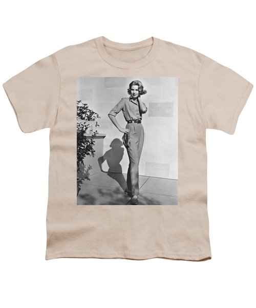 Actress Grace Kelly Youth T-Shirt by Underwood Archives
