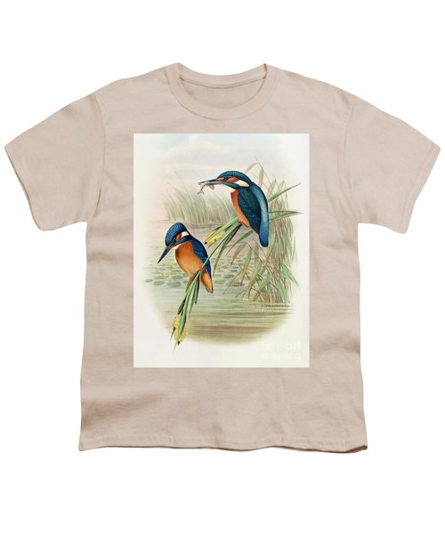 Alcedo Ispida Plate From The Birds Of Great Britain By John Gould Youth T-Shirt by John Gould William Hart