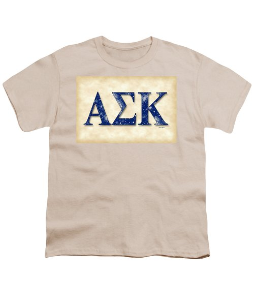 Alpha Sigma Kappa - Parchment Youth T-Shirt by Stephen Younts