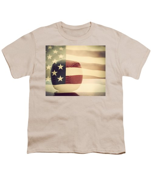 Americana Baseball  Youth T-Shirt by Terry DeLuco