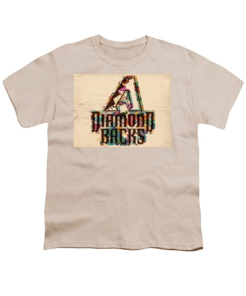 Arizona Diamondbacks Poster Vintage Youth T-Shirt by Florian Rodarte
