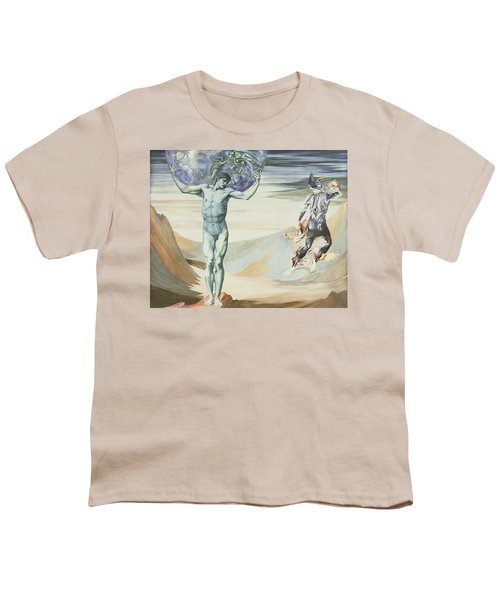 Atlas Turned To Stone, C.1876 Youth T-Shirt by Sir Edward Coley Burne-Jones
