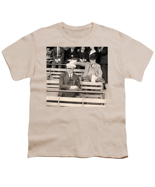 Babe Ruth In The Stands At Griffith Stadium 1922 Youth T-Shirt by Mountain Dreams