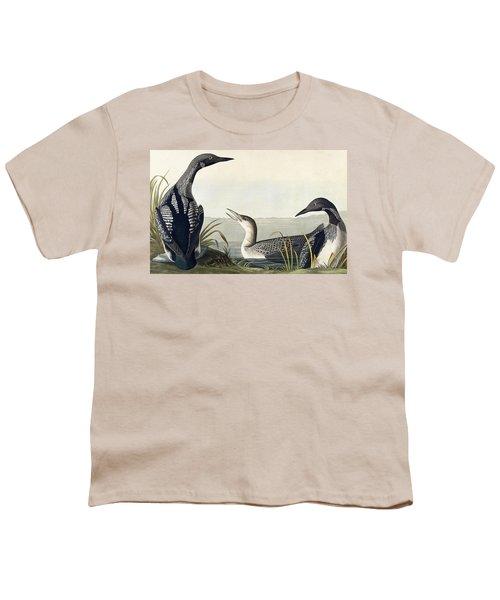 Black Throated Diver  Youth T-Shirt by John James Audubon