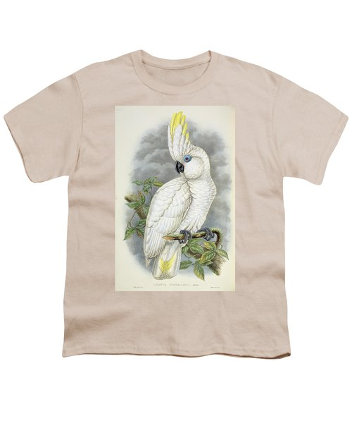 Blue-eyed Cockatoo Youth T-Shirt by William Hart