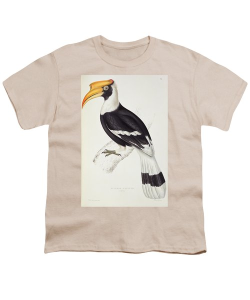 Great Hornbill Youth T-Shirt by John Gould