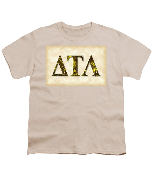 Delta Tau Lambda - Parchment Youth T-Shirt by Stephen Younts
