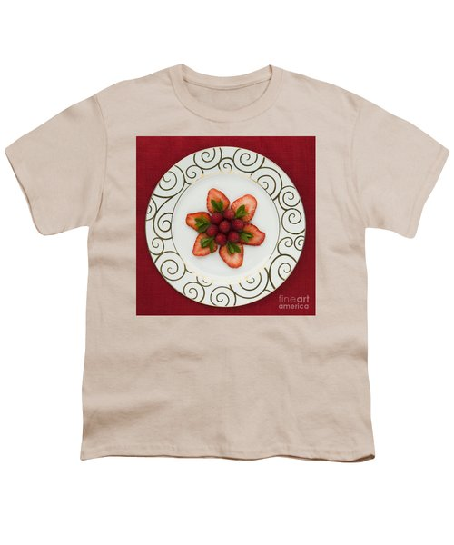 Flowering Fruits Youth T-Shirt by Anne Gilbert
