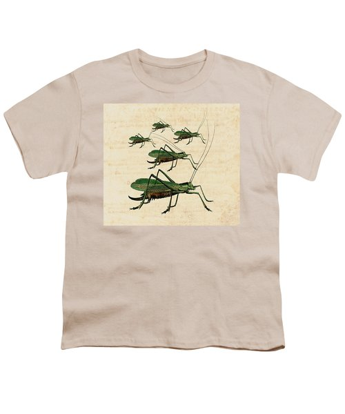 Grasshopper Parade Youth T-Shirt by Antique Images