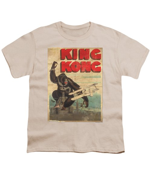King Kong - Old Worn Poster Youth T-Shirt by Brand A
