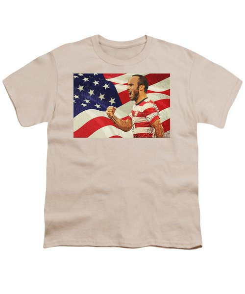 Landon Donovan Youth T-Shirt by Taylan Soyturk