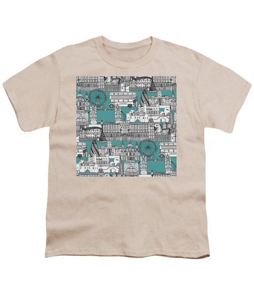 London Toile Blue Youth T-Shirt by Sharon Turner