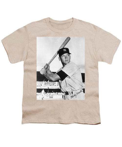 Mickey Mantle At-bat Youth T-Shirt by Gianfranco Weiss