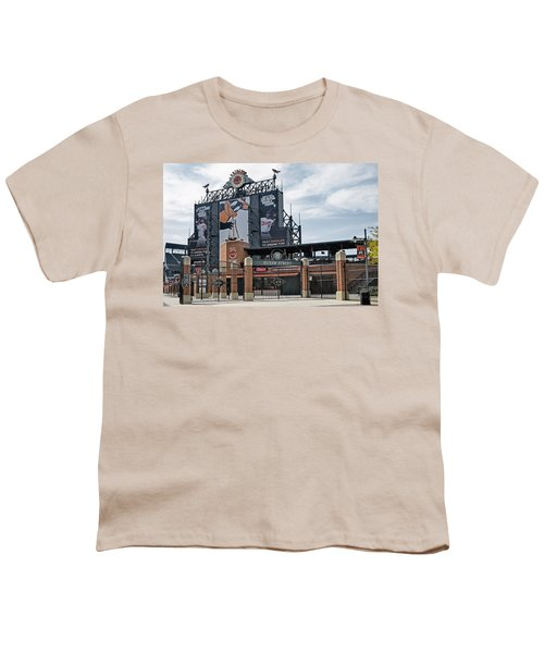 Oriole Park At Camden Yards Youth T-Shirt by Susan Candelario