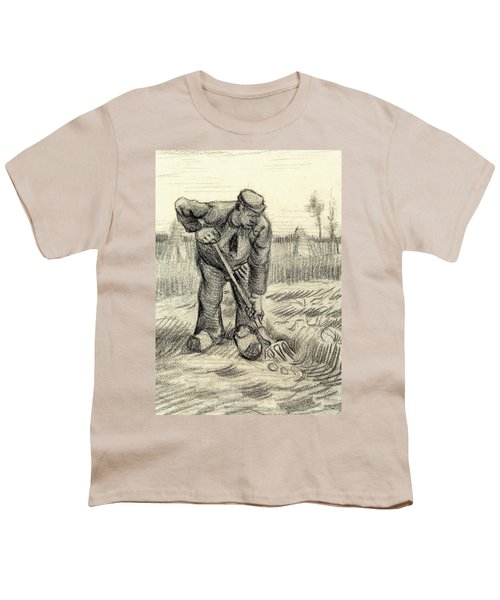 Potato Gatherer Youth T-Shirt by Vincent Van Gogh