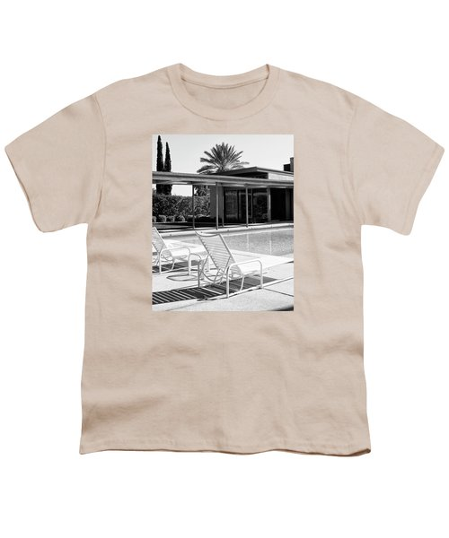 Sinatra Pool Bw Palm Springs Youth T-Shirt by William Dey
