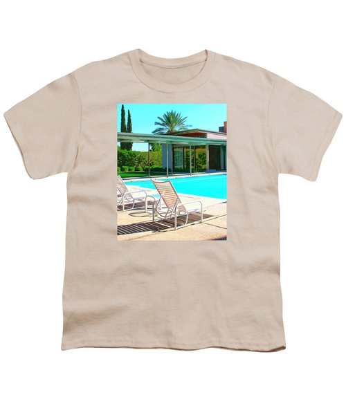 Sinatra Pool Palm Springs Youth T-Shirt by William Dey