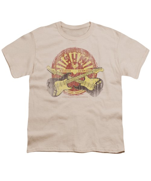 Sun - Crossed Guitars Youth T-Shirt by Brand A