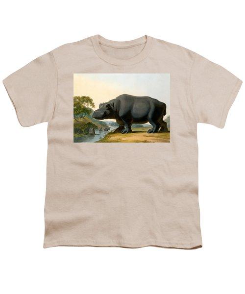 The Hippopotamus, 1804 Youth T-Shirt by Samuel Daniell