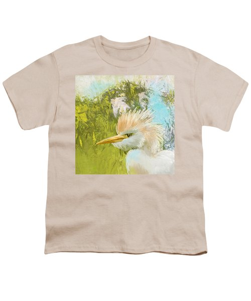 White Kingfisher Youth T-Shirt by Catf