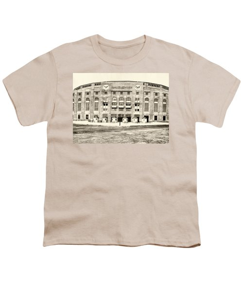 Yankee Stadium Youth T-Shirt by Bill Cannon