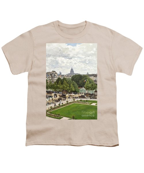 Garden Of The Princess Youth T-Shirt by Claude Monet