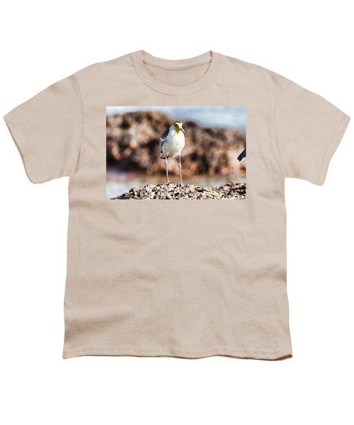 Yellow Mask Youth T-Shirt by Douglas Barnard