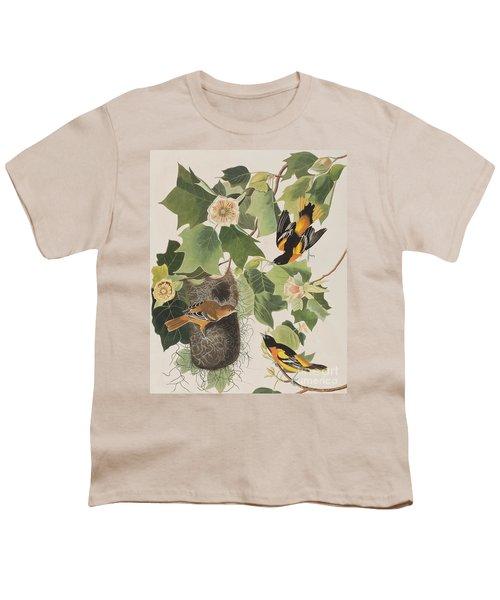 Baltimore Oriole Youth T-Shirt by John James Audubon