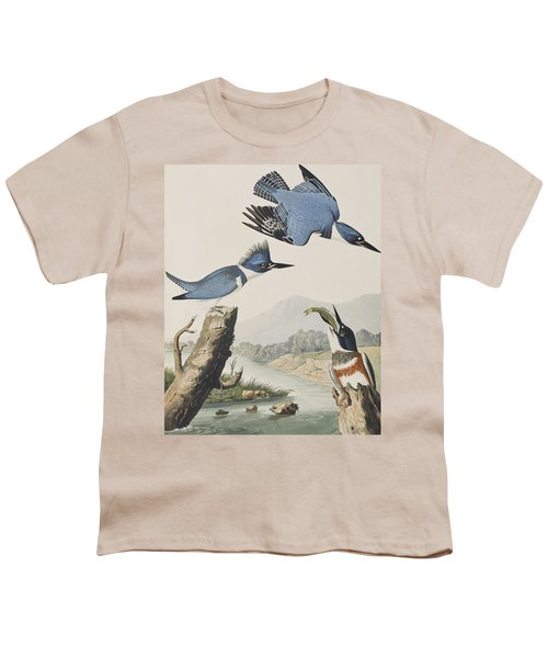 Belted Kingfisher Youth T-Shirt by John James Audubon