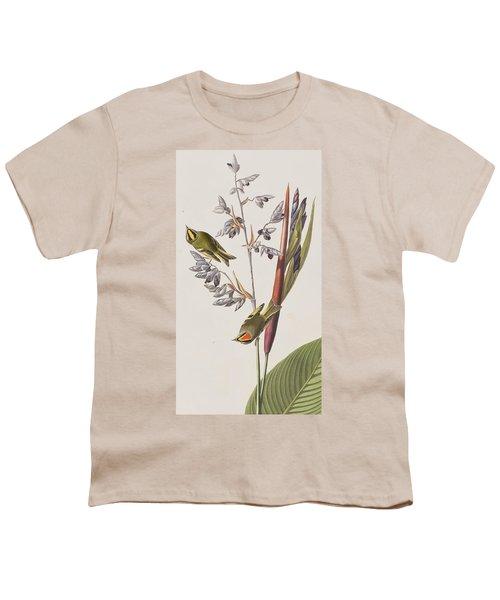 Golden-crested Wren Youth T-Shirt by John James Audubon