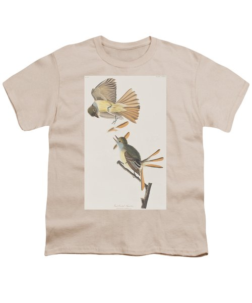 Great Crested Flycatcher Youth T-Shirt by John James Audubon
