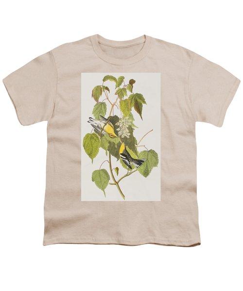 Hemlock Warbler Youth T-Shirt by John James Audubon