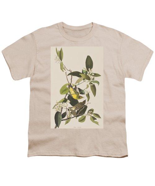 Palm Warbler Youth T-Shirt by John James Audubon