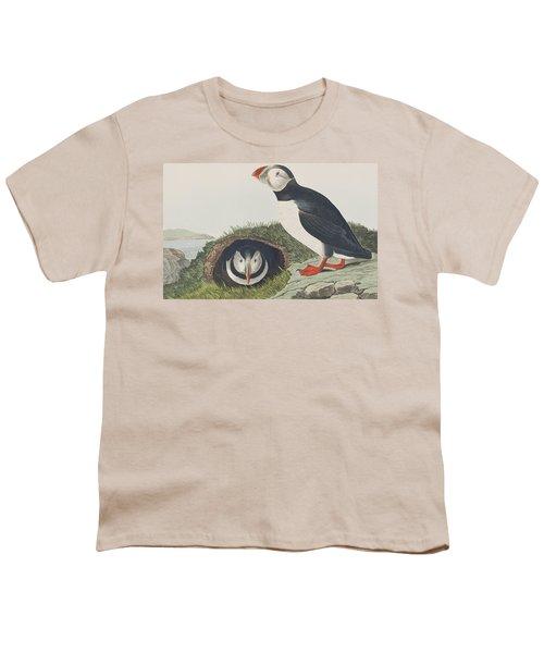 Puffin Youth T-Shirt by John James Audubon