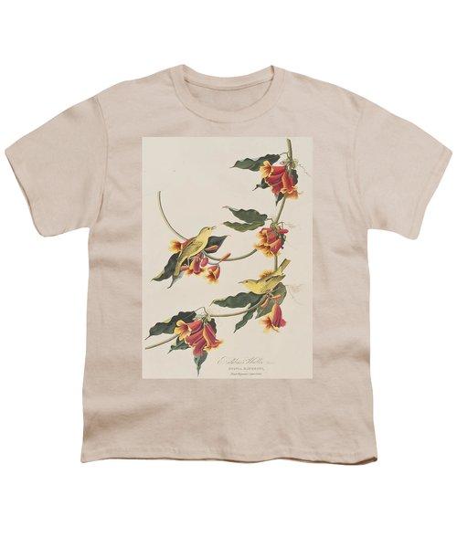 Rathbone Warbler Youth T-Shirt by John James Audubon