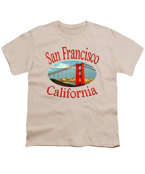 San Francisco California - Tshirt Design Youth T-Shirt by Art America Online Gallery