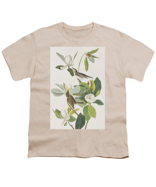 Warbling Flycatcher Youth T-Shirt by John James Audubon
