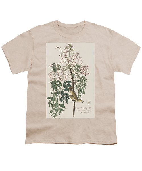 White-eyed Flycatcher Youth T-Shirt by John James Audubon